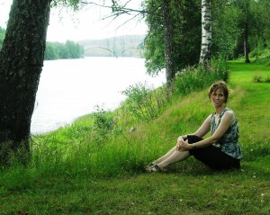 The author in Sweden near her great-grandmother's birthplace. (Photo by Pia Röstell)