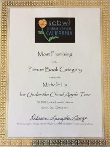 Award from SCBWI Central California for Most Promising in the Picture Book Category.
