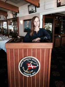 Michelle at the Yacht Club speaking