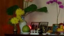A family altar honoring ancestors.