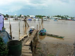 A dock on Tân Long Island on the Mekong Delta (2007).