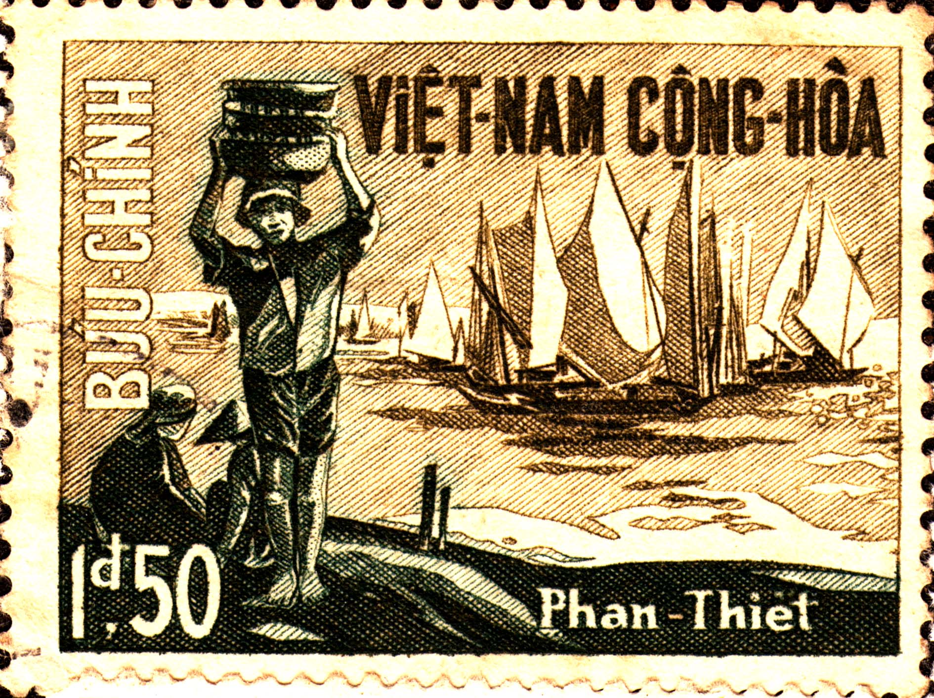 A Short History Of South Vietnam Through Stamps Michelle Robin La - Map of us bases in south vietnam
