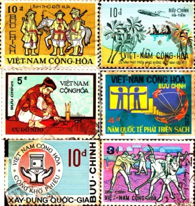 1972 Stamps from South Vietnam