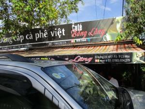 A cafe offering free wifi in Vietnam